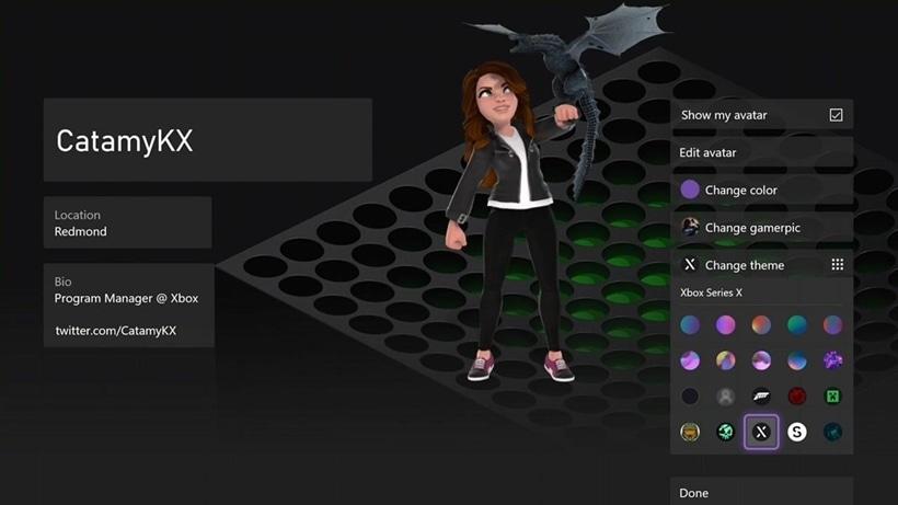 Xbox Profile Themes