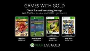 Games with Gold Titles Announced for May 2019