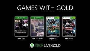 Games With Gold Announced For September