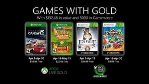 April's Xbox Games with Gold include Fable Anniversary and Project Cars 2