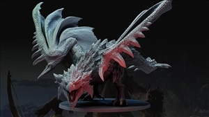 Monster Hunter World board game features a foot-tall 'miniature'