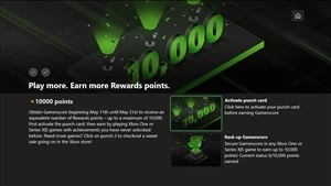 Earn 10,000 Microsoft Rewards Points for 10,000 Gamerscore in May