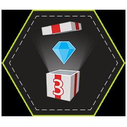 Three Shiny Diamonds